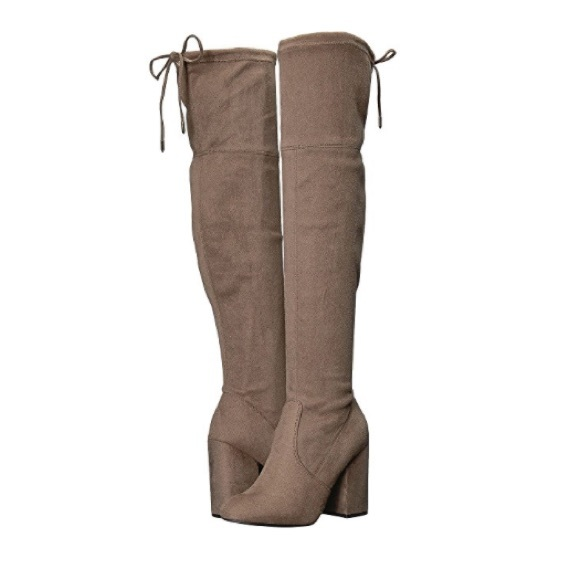 6d9f89e1010 Steve Madden Niela Taupe Over The Knee Boots 9